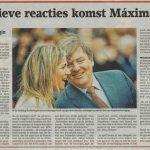 Positieve reacties op komst Máxima naar Driebergen
