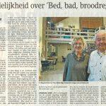 Onduidelijkheid over 'Bed, bad, broodregeling'